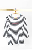 Je ne regrette rien bespoke marinière with navy and white stripes   image