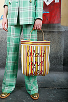 Wait and See Shopper Bag with Yellow Stripes image