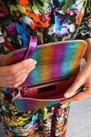 La Vita è Bella rainbow clutch bag  image