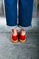 Red brogues  image