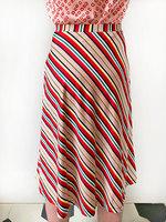 Flared multicoloured stripe skirt  image