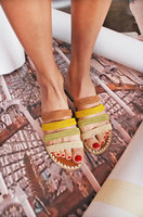 Striped Raffia Sliders  image