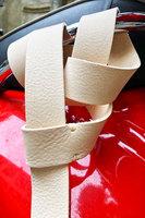 Ivory Leather Twist Belt  image