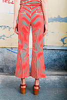 Red Striped Cropped Pants  image